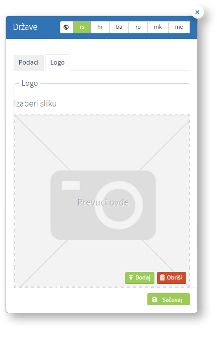 Kreiranje nove države - tab logo